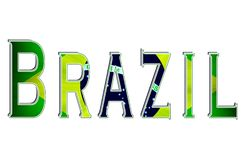 Brazil. Tribute to the beautiful country of Brazil vector illustration