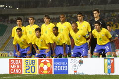 Brazil U20 team Royalty Free Stock Photos