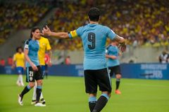 Brazil v Uruguay - FIFA 2018 World Cup Qualifiers Royalty Free Stock Photo