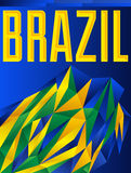 Brazil Vector geometric background. Modern flag concept - Brazilian colors - eps 10 available Stock Images