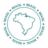 Brazil vector map. Stock Photography