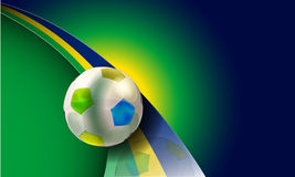 Brazil 2014. Vector soccer illustration with brazil flag colors,eps10 vector, gradient mesh and transparency used Stock Photos