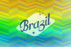 Brazil 2014 vintage label blurred background Royalty Free Stock Photo