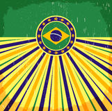 Brazil vintage patriotic poster - card vector design Royalty Free Stock Images
