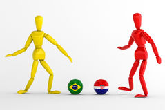 Brazil vs croatia football Royalty Free Stock Photography