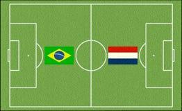 Brazil vs. Netherlands Royalty Free Stock Images