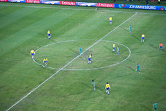 Brazil vs South Africa (Bafana Bafana) Royalty Free Stock Photos