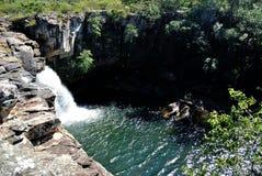 Brazil Waterfall. Waterfall located at Conceicao do Mato Dentro City, Minas Gerais Estate, Brazil Stock Photo