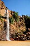 Brazil Waterfall. Waterfall located at Gouveia City, Minas Gerais Estate, Brazil Royalty Free Stock Photos