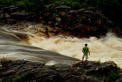Brazil Waterfall. Waterfall.located at Parque Nacional da SErra do Cipó. Minas Gerais Estate, Brazil Stock Photography