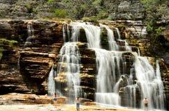 Brazil Waterfall. Sempre-viva Waterfall.located at Parque estadual do Rio Preto. Minas Gerais Estate, Brazil Royalty Free Stock Images