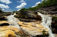 Brazil Waterfall. Sempre-viva Waterfall.located at Parque estadual do Rio Preto. Minas Gerais Estate, Brazil Royalty Free Stock Photo