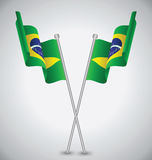 Brazil Waving Flag Stock Photo