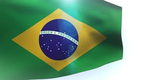 Brazil waving flag in the wind wave. Video stock video