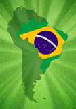 Brazil which is located Royalty Free Stock Photos