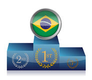 Brazil winner's podium illustration design Royalty Free Stock Photography