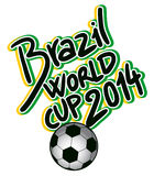 Brazil world cup. Creative design of brazil world cup Royalty Free Stock Images