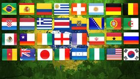 Brazil World Cup. 2014 flags Royalty Free Stock Photos