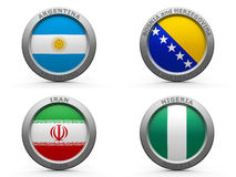 Brazil world cup 2014 group F Royalty Free Stock Photos
