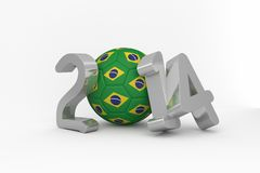 Brazil world cup 2014. On white background Stock Image