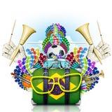 Brazil, the world football championship Stock Image