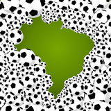 2014 brazil world soccer championship country shape illustration Royalty Free Stock Photography