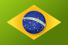 Brazil 2014 world soccer championship, flag ball shape compositi Stock Images