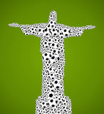Brazil 2014 world soccer championship, jesus christ shape balls Royalty Free Stock Images