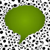 2014 brazil world soccer championship, social media bubble shape. Brazil 2014 social media speech bubble shape of soccer balls, world tournament concept Royalty Free Stock Photography