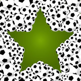 Brazil 2014 world soccer championship, star shape balls illustra. 2014 brazil star shape of soccer balls, world tournament concept illustration. Vector file Royalty Free Illustration