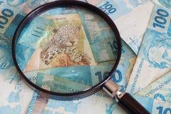 Brazilan pieniądze reais obraz stock