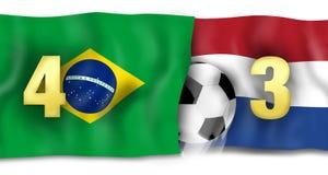 Brazilan 4to y Netherland 3ro Foto de archivo libre de regalías