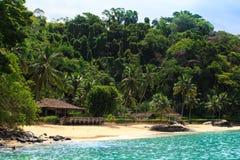 Brazilean tropical beach Royalty Free Stock Photos