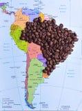 Brazilië bedekte met caffee Royalty-vrije Stock Foto