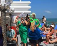 Brazilië/de Atlantische Oceaan: Kruisen-de-lijnceremonie - Neptunus en Salacia Royalty-vrije Stock Afbeeldingen