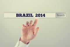 Brazilië 2014 geschreven in de onderzoeksbar Royalty-vrije Stock Foto