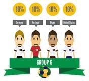 Brazilië 2014 groep G vector illustratie
