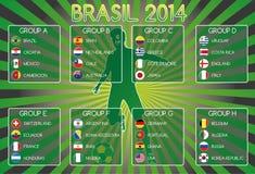 Brazilië 2014 Groepen royalty-vrije illustratie