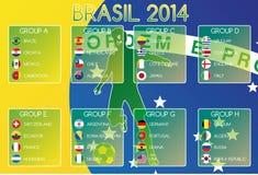 Brazilië 2014 Groepen stock illustratie
