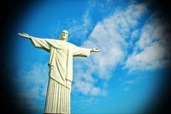 brazilië Het Standbeeld van de Verlosser van Christus Royalty-vrije Stock Foto