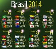Brazilië 2014 landgroepen Royalty-vrije Stock Fotografie