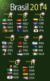 Brazilië 2014 landgroepen Stock Fotografie
