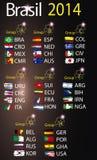 Brazilië 2014 landgroepen Stock Afbeelding