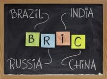 Brazilië, Rusland, India en China - BRIC royalty-vrije stock foto's