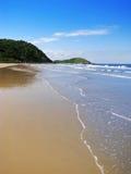 Brazilië: Schitterend woestijn wild strand in Ilha do Mel (Honey Island) royalty-vrije stock afbeelding