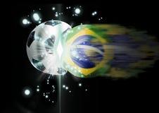 Brazilië sloeg in voetbal Stock Foto