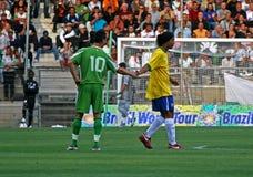 Brazilië versus Algerije Stock Fotografie