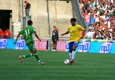 Brazilië versus Algerije Stock Foto