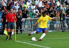 Brazilië versus Algerije Royalty-vrije Stock Foto
