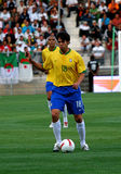 Brazilië versus Algerije Stock Foto's